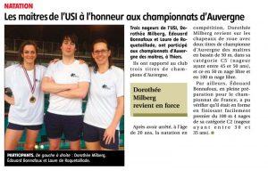 Maîtres, Championnat d'Auvergne, Mars 2014